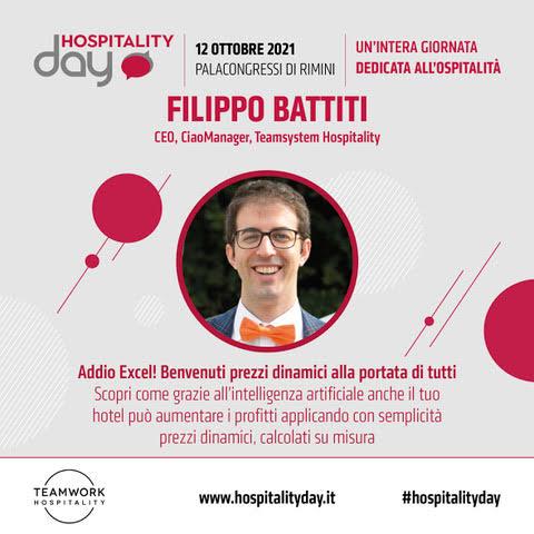 Hospitality Day Rimini, Filippo Battiti di Ciaomanager parla di intelligenza artificiale per hotel